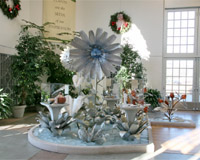 Интериорно изкуствено цвете от титаниева сплав